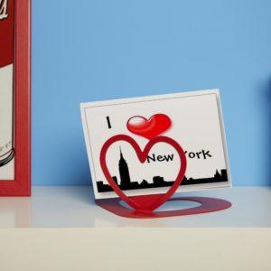 Cornice portafoto moderno in metallo a forma di cuore | Mipiacemolto