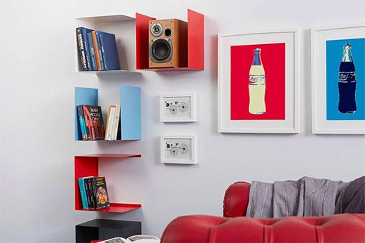 Mensole Geometric - Ispirazioni in stile pop art: come dare carattere alla casa