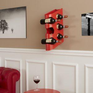 Living con cantinetta portabottiglie a parete design in metallo | Mipiacemolto