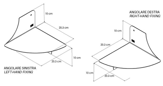 MENSOLA-ANGOLARE disegno-tecnico | Mipiacemolto