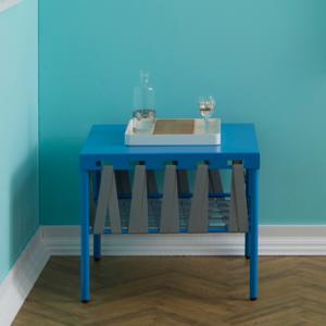 Dettaglio-tavolino-originale-GLAM-con-vassoio-design-bianco | Mipiacemolto