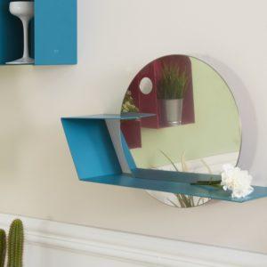 Mensole design colorata con specchio per ingresso | Mipiacemolto