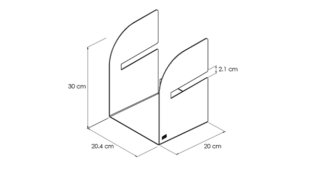 PORTAOGGETTI-BRUCE_disegno-tecnico | Mipiacemolto