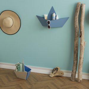 Porta oggetti colorato in metallo a forma di barchetta Boat design Giacomucci | Mipiacemolto