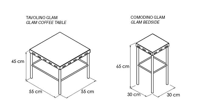TAVOLINO-COMODINO-GLAM_disegno-tecnico | Mipiacemolto