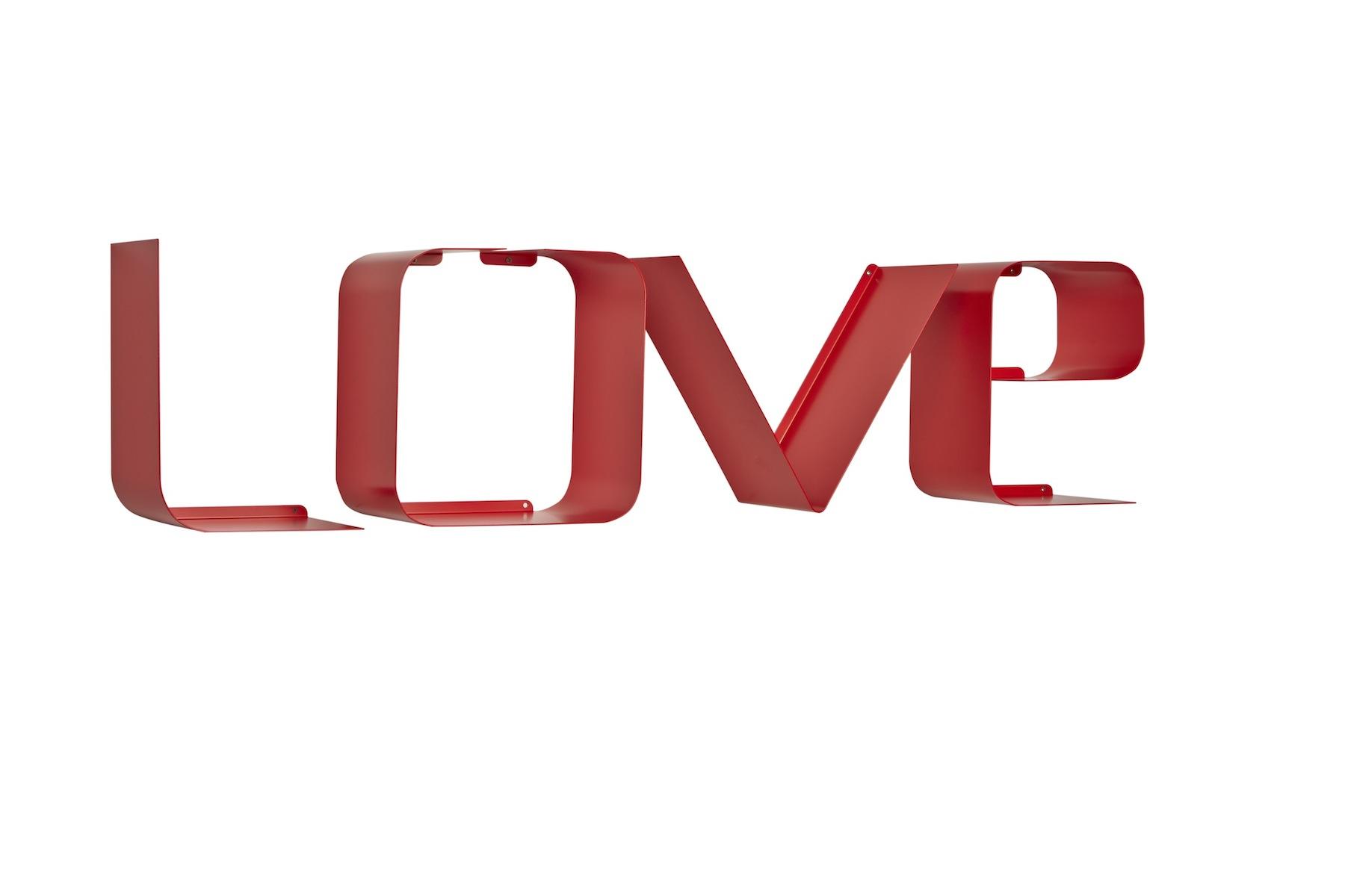 Lettere Da Appendere Al Muro mensola a lettere scritta love | personalizza le tue pareti