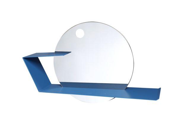 Specchio circolare con mensola LIME