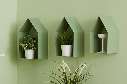 Mensole-a forma di casetta matriosca di colore verde | Mipiacemolto