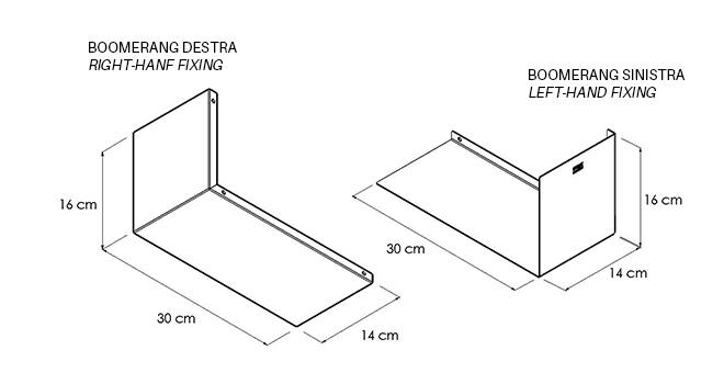 MENSOLA-BOOMERANG Disegno tecnico | Mipiacemolto