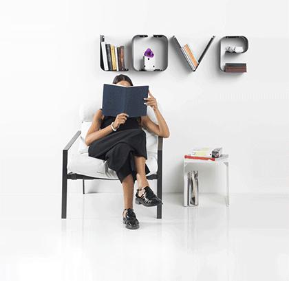 Mensole a lettere-Love-colore-grigio | Mipiacemolto
