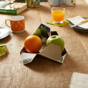 Porta frutta in acciaio inossidabile lucido ESSEX