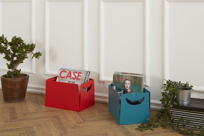 Portariviste di design colorati in metallo BOX | Mipiacemolto
