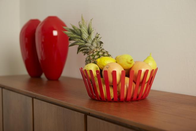 Cesto porta frutta design colore rosso MEDUSA | Mipiacemolto