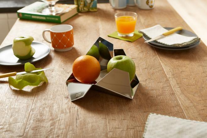 Portaoggetti da tavolo e Porta frutta in acciaio inossidabile lucido ESSEX